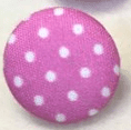 Cloth Covered Polkadot Buttons